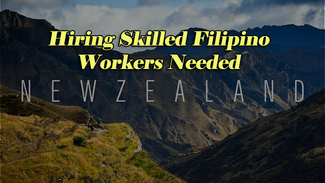 Hiring: Skilled Filipino Workers Needed in New Zealand